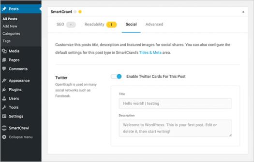 SmartCrawl WordPress SEO plugin.