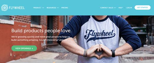 Flywheel homepage.