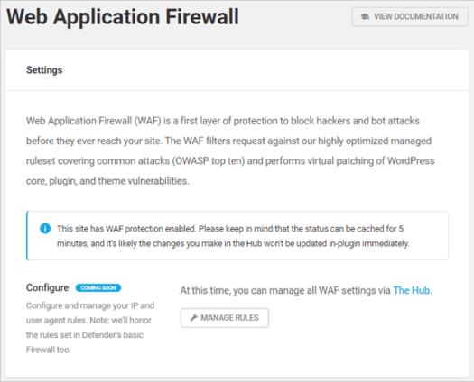 Defender Web Application Firewall