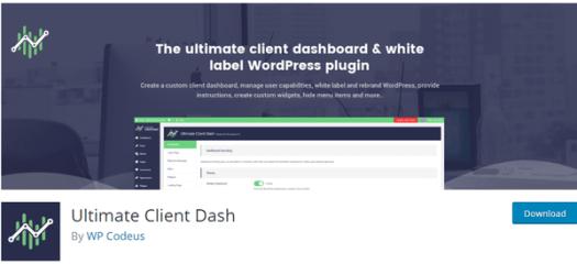 Screenshot of iltime client dash from wordpress.org