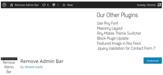 Download Admin Bar