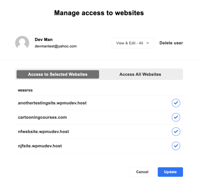 Where you can access websites for users.