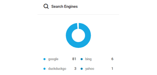 Screenshot of the search engines donut chart.