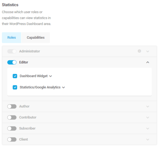 Screenshot of the tickboxes where you can delegate permissions.