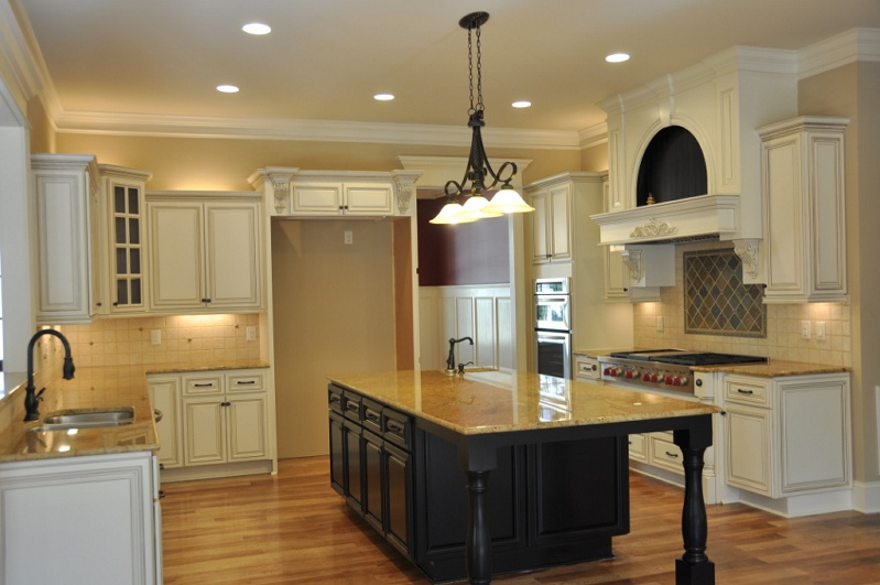 kitchen cabinet pricing tool our premium cabinets country linen with dark island jpg