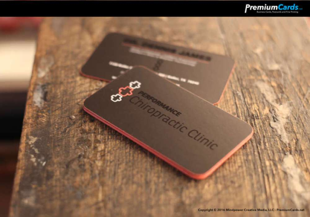 Silk Business Cards with Spot UV and Edge Paint – Premium Business ...