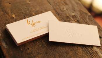 Embossed business cards 22pt blind emboss premiumcards thick gold foil business cards with deboss reheart Choice Image