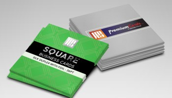 Raised foil business cards premiumcards square silk business cards with foil 36pt reheart Image collections