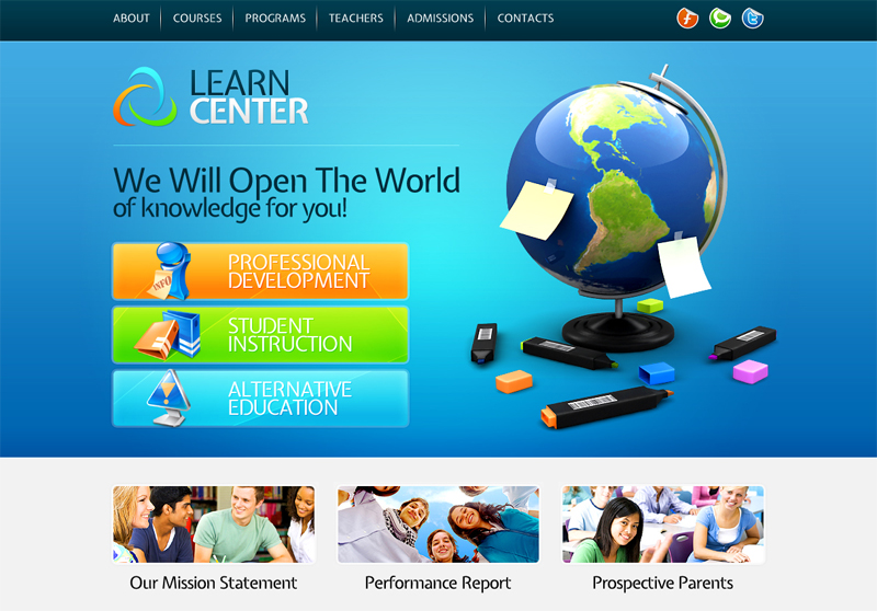 Top 10 Useful Web Design Tricks and Free Templates for Educational Websites  PremiumCoding