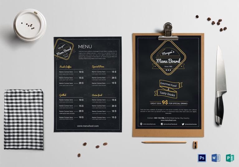 menu board design templates free