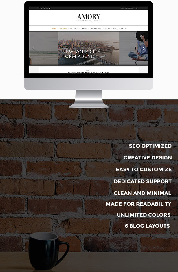 Amory - A Responsive WordPress Blog Theme - 2