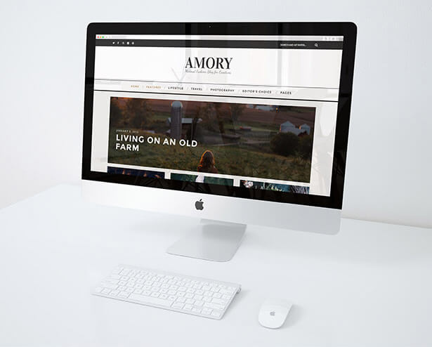 Amory - A Responsive WordPress Blog Theme - 5