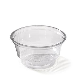 Clear bowl 8oz, een plastic kom met een inhoud van 250cc