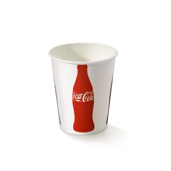 Coca Cola beker van karton met een inhoud van 250cc