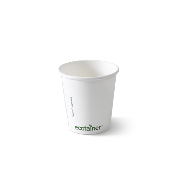 Bio koffiebekers 180cc, 100% afbreekbaar