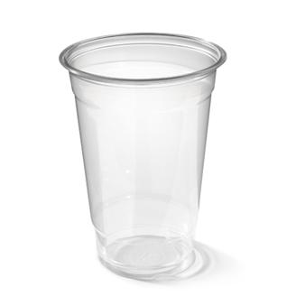 Grote plastic beker van stevig plastic voor o.a. millkshakes, heldere clear cup