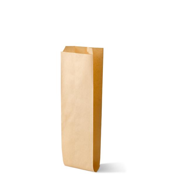 Snackzak vervaardig van een kraft materiaal met een inhoud van 0,5 pond lang