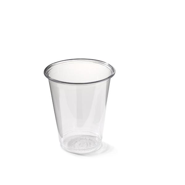 transparante plastic beker met een inhoud van 180cc