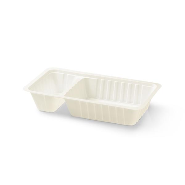 Plastic frietbakje met sausvakje