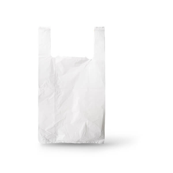 Witte hemddraagtas plastic