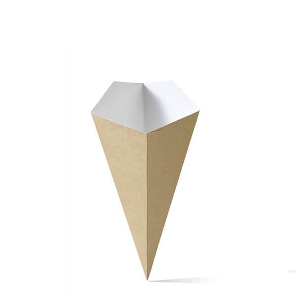 Puntzak van karton in het kleinste formaat