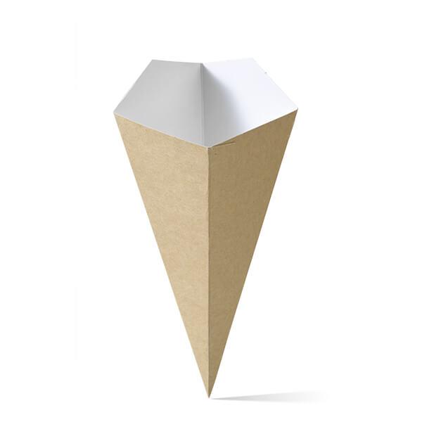 Puntzak van karton in het middelste formaat