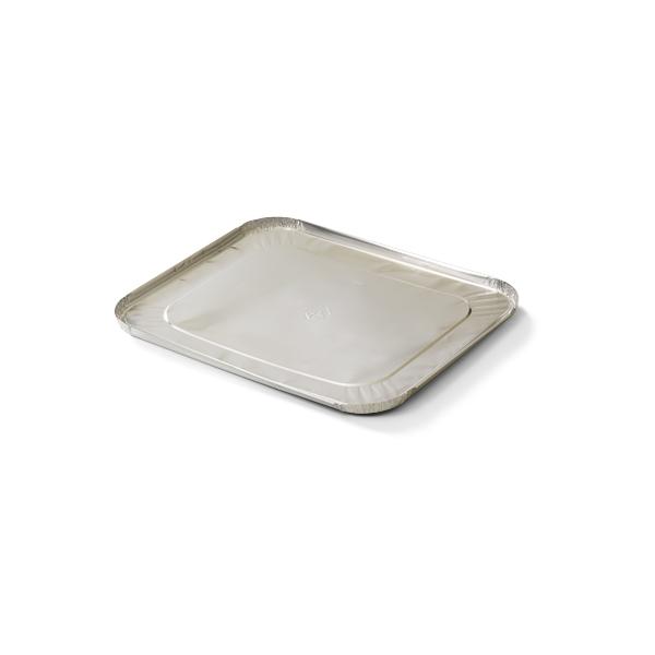 De aluminium deksels die bestemd zijn voor de gastronorm bakken 2800 en 3600cc zorgen voor gemakkelijk en veilig vervoer van de warme catering gerechten.