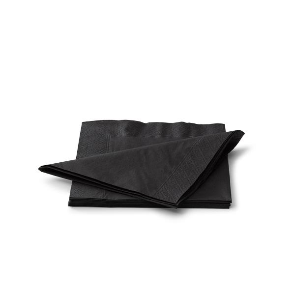 Servetten 25cm 2 laags zwart