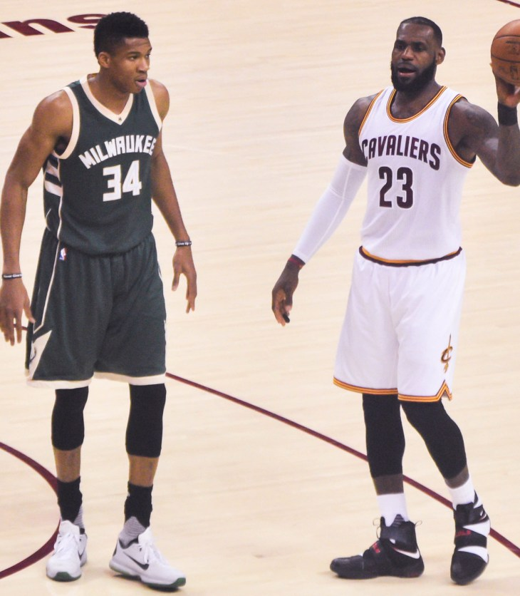 LeBron James, Giannis