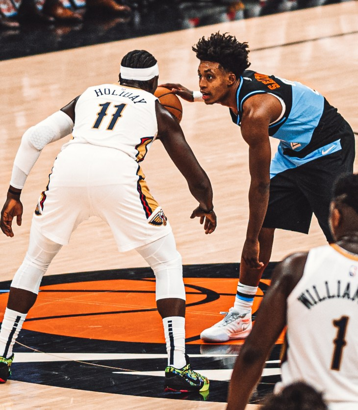 Jrue Holiday, New Orleans Pelicans, Collin Sexton, Cleveland Cavaliers, Defense