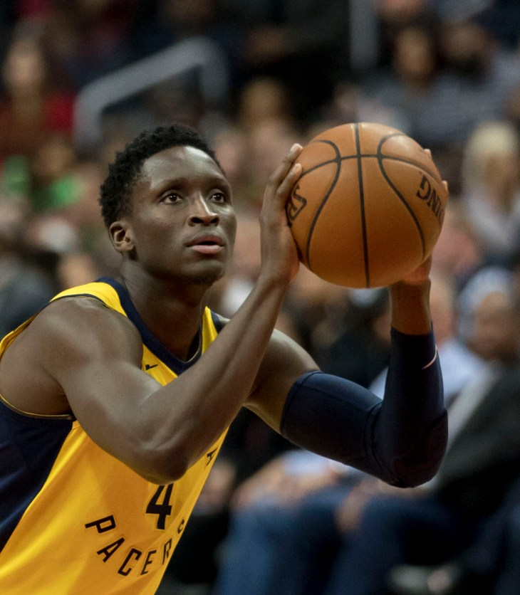 Victor Oladipo, Miami Heat, Indiana Pacers, pull-up shooting, screening, DHO