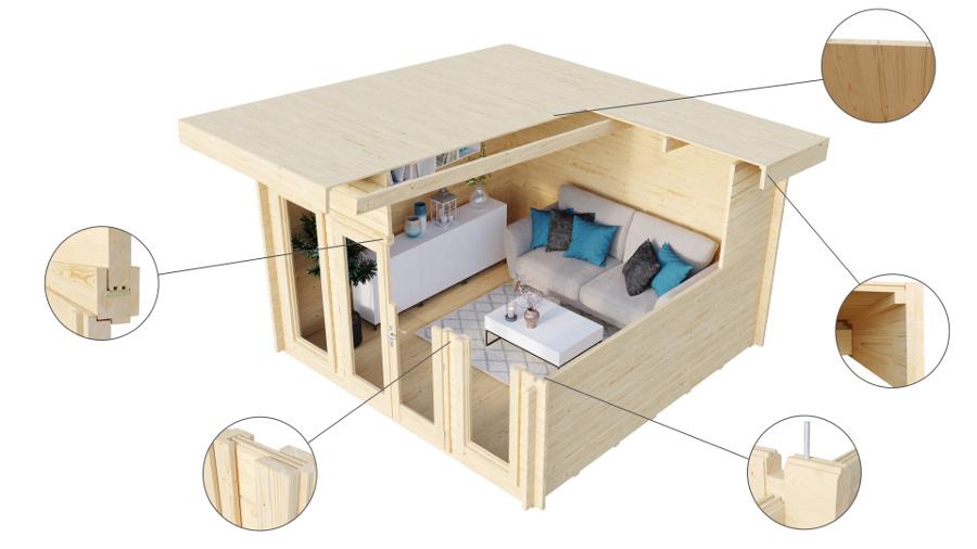 Newcastle Log Cabin 4m X 3m