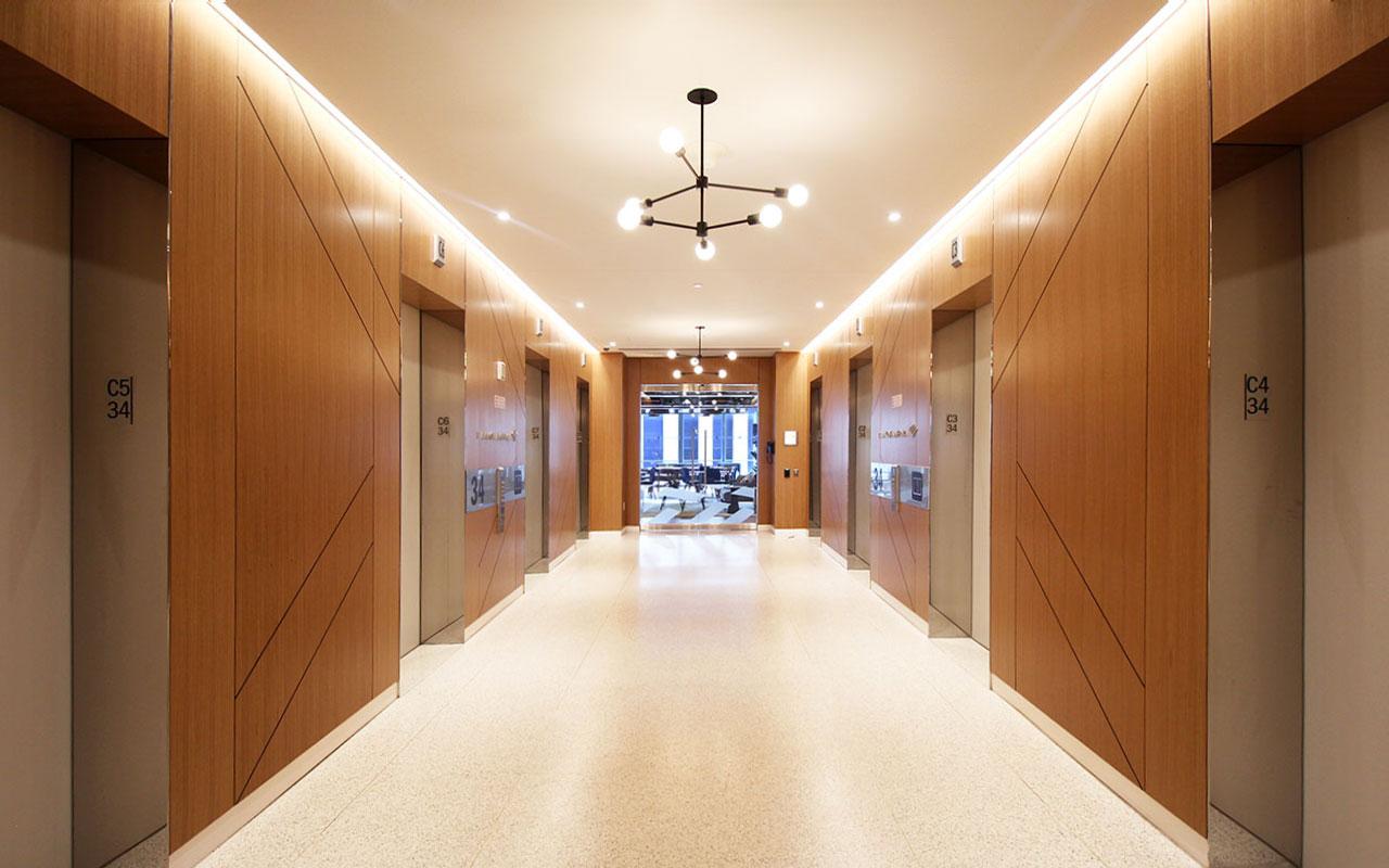 Banf Of America Elevator Lobby