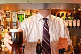 WOW!!! Britain's 'tallest landlord' who is so tall at 6ft 8ins customers can't see his head behind the bar