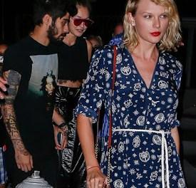 Taylor Swift Goes Out With Gigi Hadid & Zayn Malik in New York City