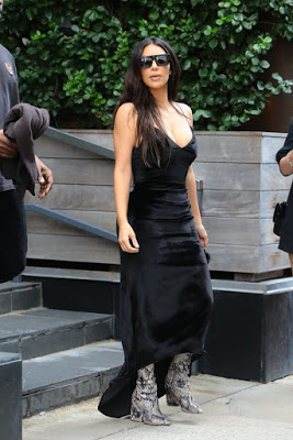 Kanye West and Kim Kardashian out in New York