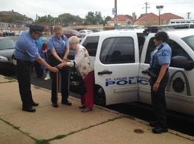Police cuff and arrest 102 year old woman