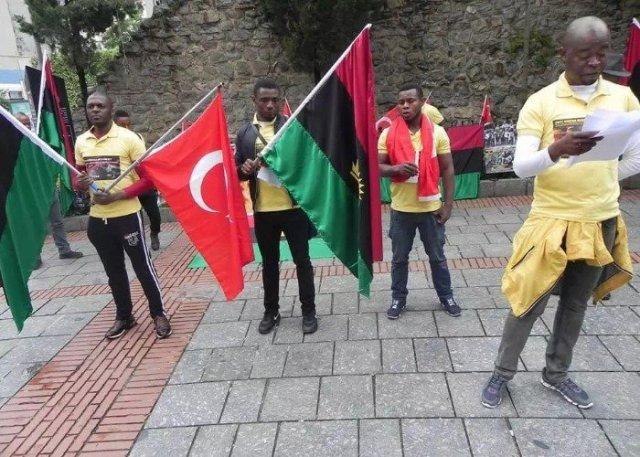 IPOB protest in Turkey
