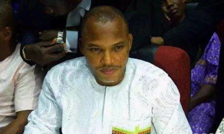 Biafra: Nnamdi Kanu is in Abaribe's custody, Nigerian government tells court