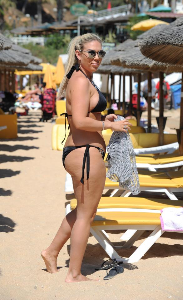 Frankie Essex is back in a bikini two months after cruel fat shaming