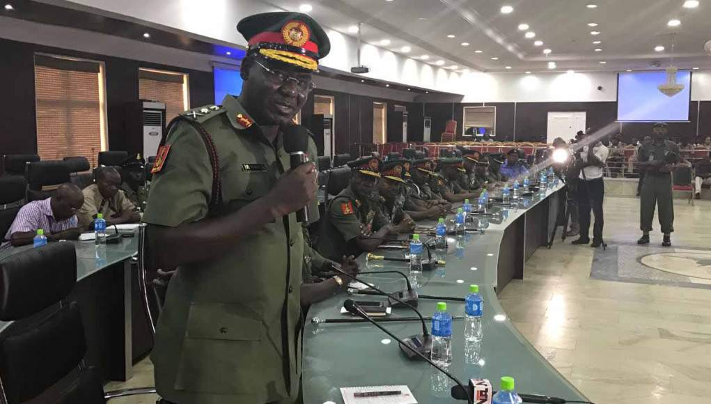 Nigerian Army did not invade Nnamdi Kanu's home - Buratai tells court