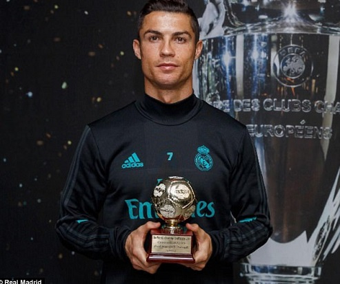 Cristiano Ronaldo crowned the IFFHS world's best goalscorer for 2016