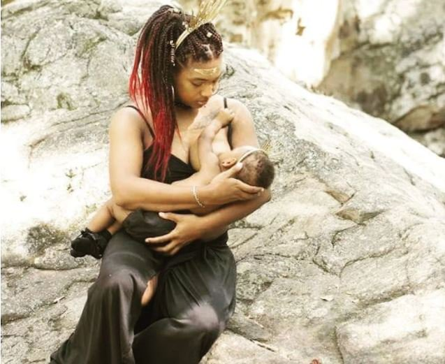 Amazing photoshoot of topless black mothers breastfeeding their children (Photos)