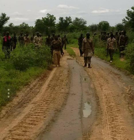 Nigerian soldiers in Sambisa forest