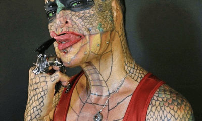Photos: Transgender woman spends thousands of Dollars to look like a dragon