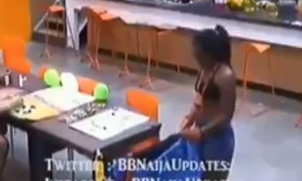 BBNAIJA 2018 – Watch the moment Cee-C ripped her Payporte dress (Video)