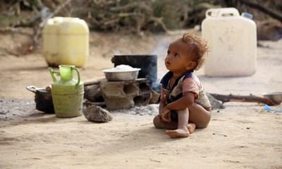 Displaced children in Yemen conflict