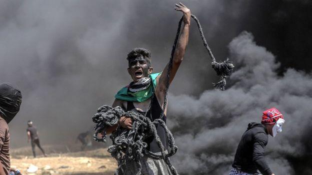 Gaza Violence: Israel defends actions as 55 Palestinians killed