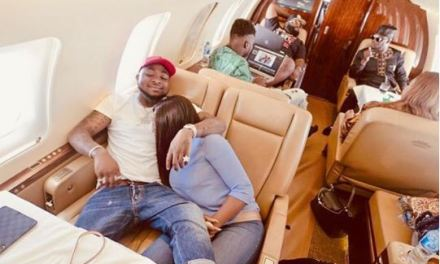 Photo Of Davido And Chioma Inside A Private Jet As They Head To Sierra Leone
