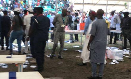 Photo/Video: Thugs disrupt Ekiti APC governorship primary